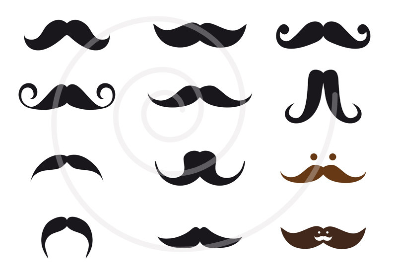 Mustache Styles Clipart.