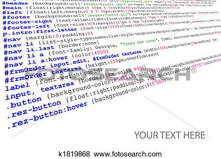 Stock Illustration of Stylesheet source code listing k1819868.