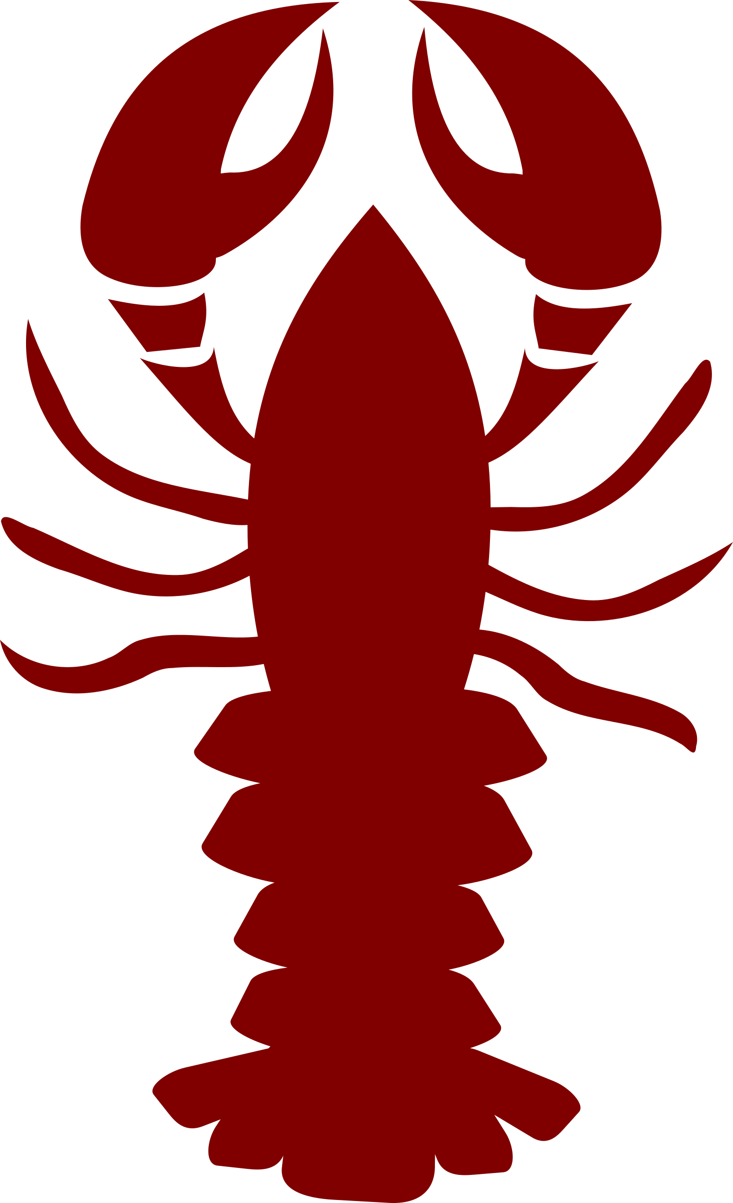 Clipart lobster stylised image #22689.