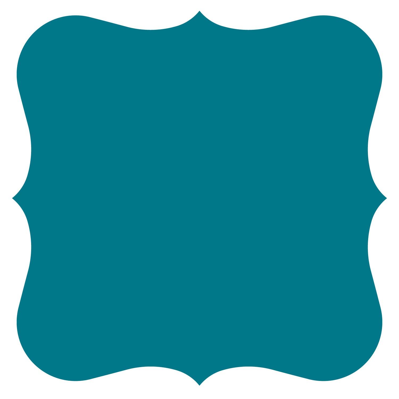 Blue Bracket Frame Clipart Free.