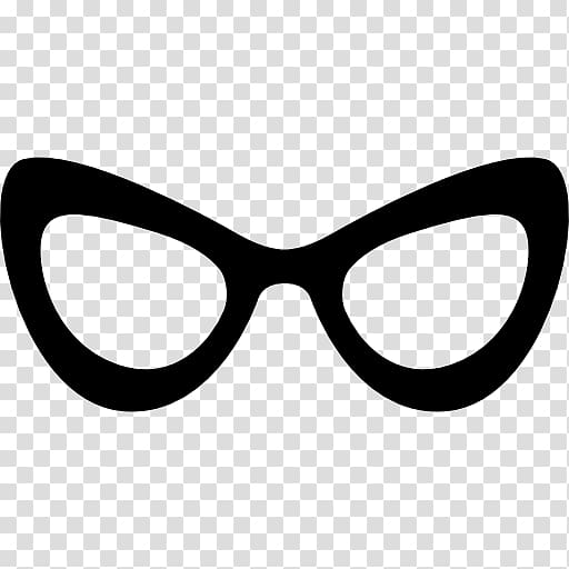 Cat eye glasses Monocle Computer Icons, stylish transparent.