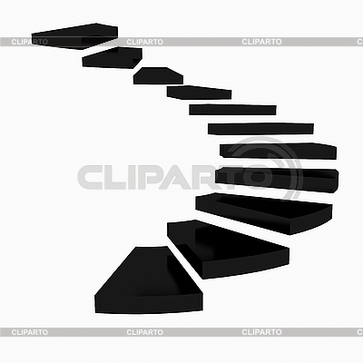 Spiral stairs clipart black spiral staircase on.