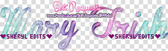 Mary Trish Stylish Text transparent background PNG clipart.