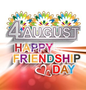 Beutiful stylish text Happy Friendship day background vector.