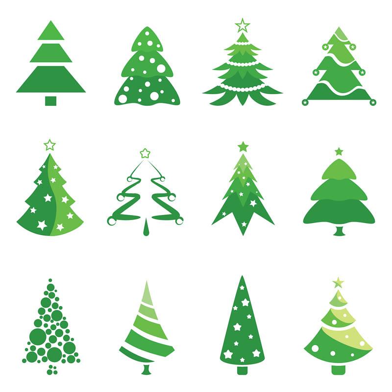 Christmas Tree Logo Clipart.