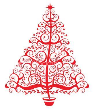 A stylized christmas tree..