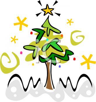Stylized Christmas Tree Design.
