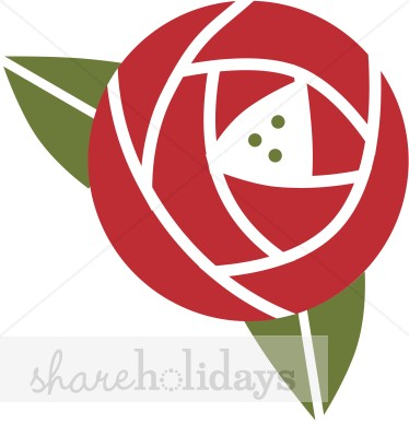 Stylized Rose Clipart.