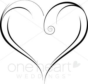 Swirly Heart Clipart.