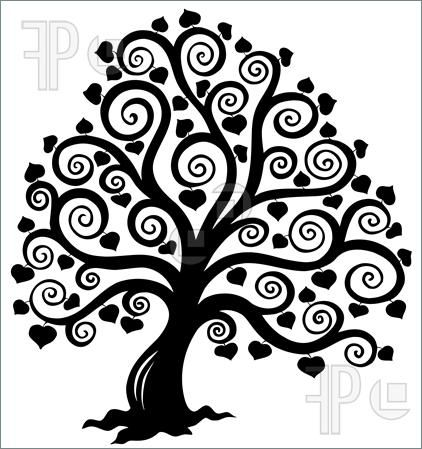 Stylized Tree Silhouette Illustration. Clip Art To Download.