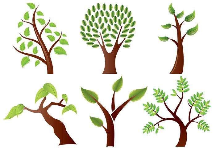 Stylized Trees Vector Pack.