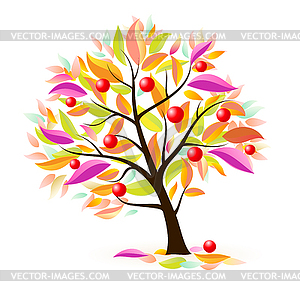 Stylized apple tree.