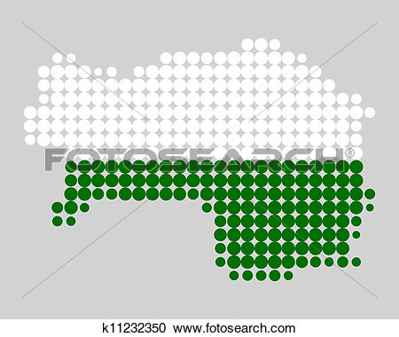 Clipart of Map and flag of Styria k11232350.