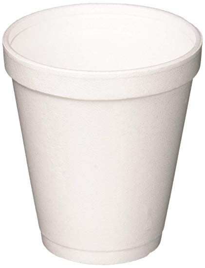 Dart 8 Oz White Disposable Coffee Foam Cups Hot and Cold Drink Cup, Pack of  100.