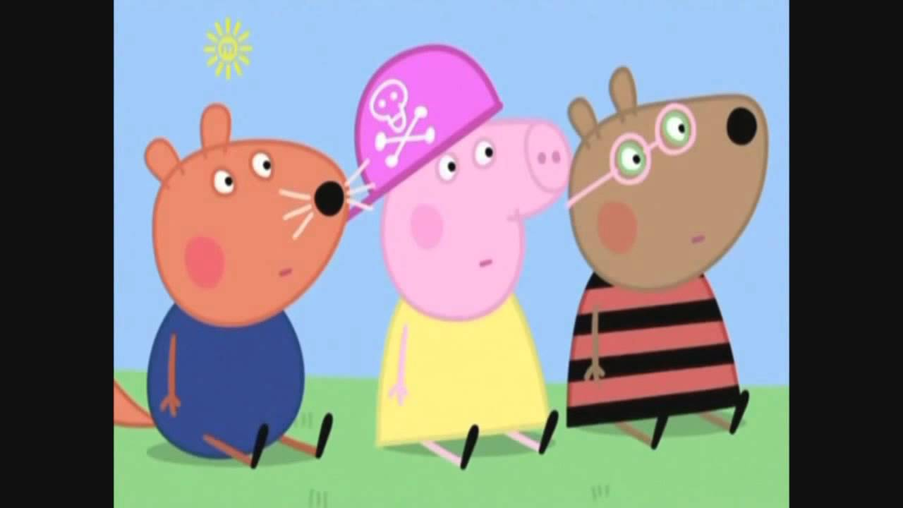 Peppa pig mostra sua música favorita.