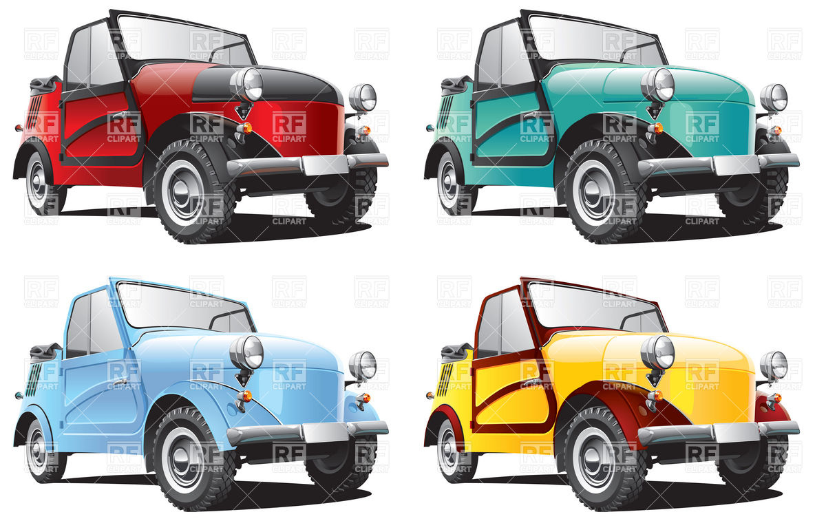 Vintage small car Vector Image #6168.