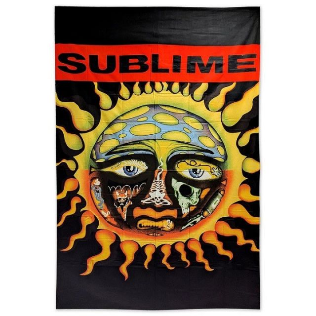 New LICENSED Sublime Sun Logo Gift Tapestry Wall Decor 60x90 40oz to  Freedom NIP.