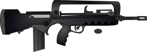 Famas Gun Clip Art at Clker.com.