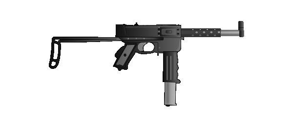 Submachine Gun Mat49 Clip Art at Clker.com.