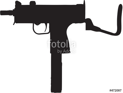 """sub machine gun clip art with clipping path"""" Stock photo and."""