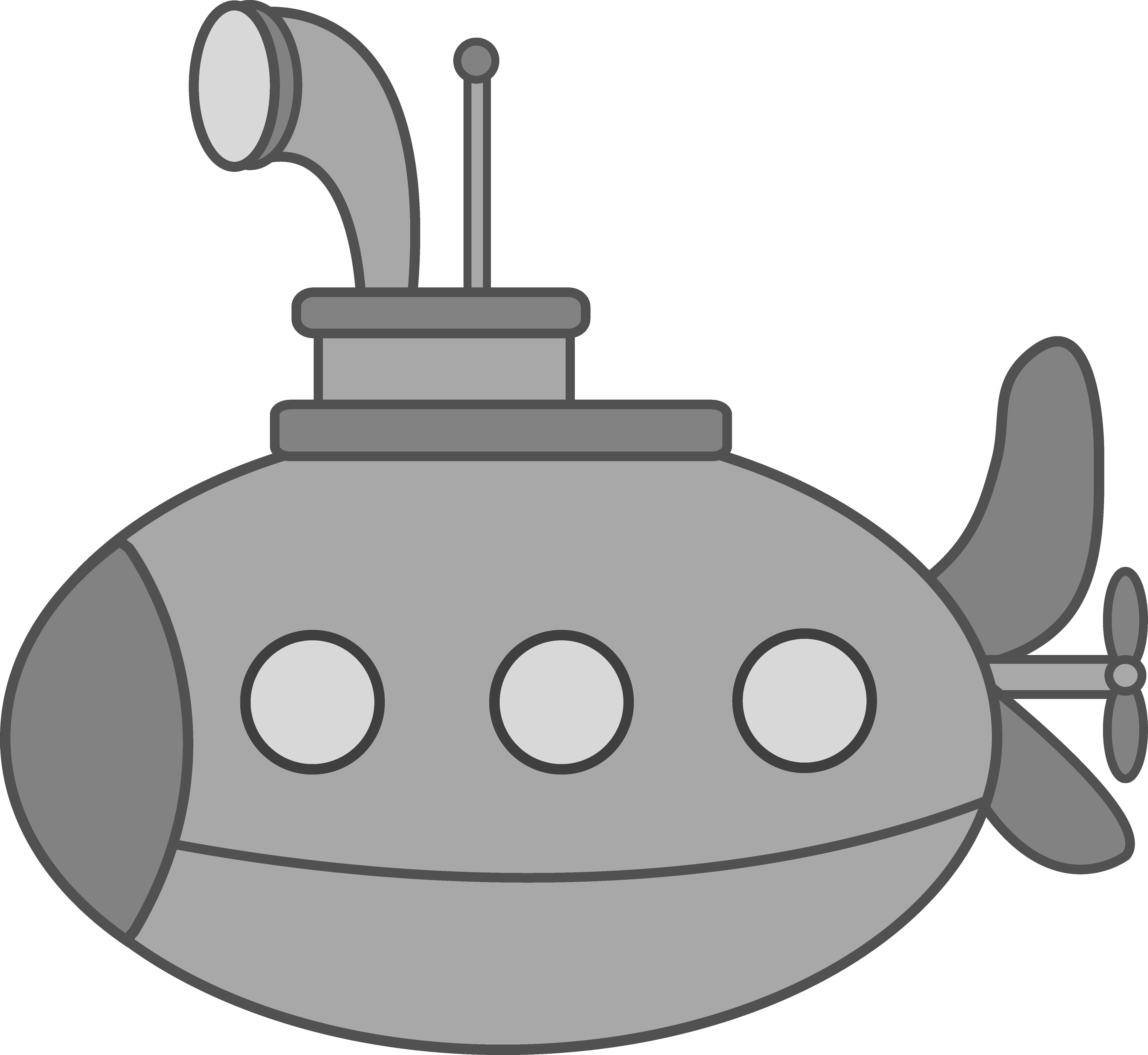 Cute Silver Submarine.