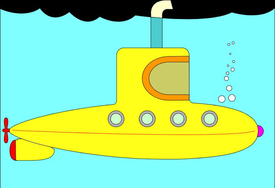 Submarine Cartoon clipart.