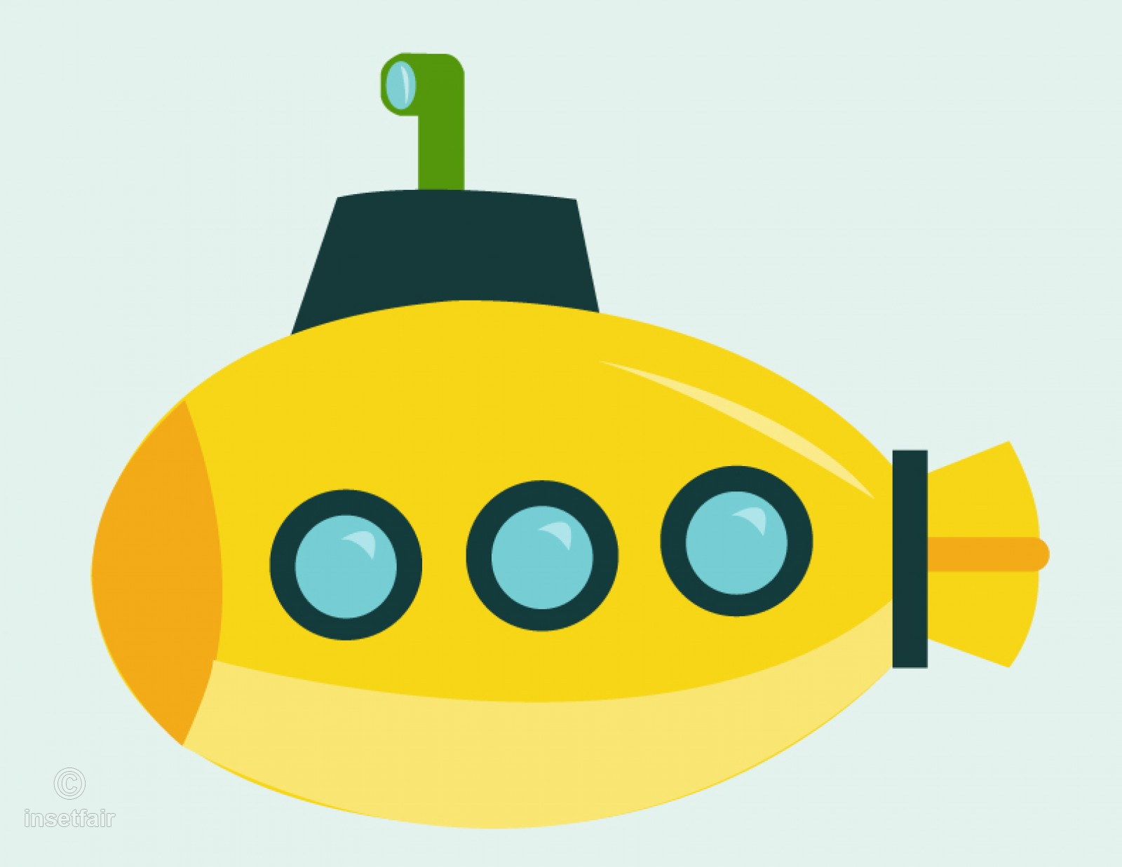 Submarine clipart png vector image free download.