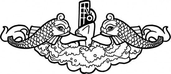 Submarine Dolphin Logo.