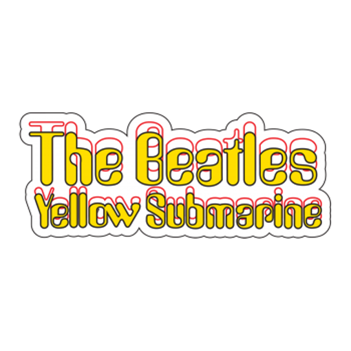 Beatles Sticker: Yellow Submarine Logo Sticker.