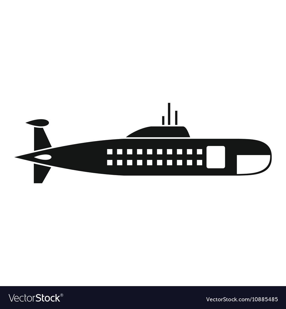Military submarine icon simple style.