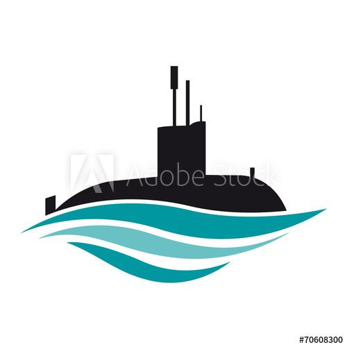 Vector logo submarine.
