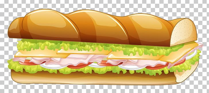 Hamburger Submarine Sandwich Pizza Panini Fast Food PNG.
