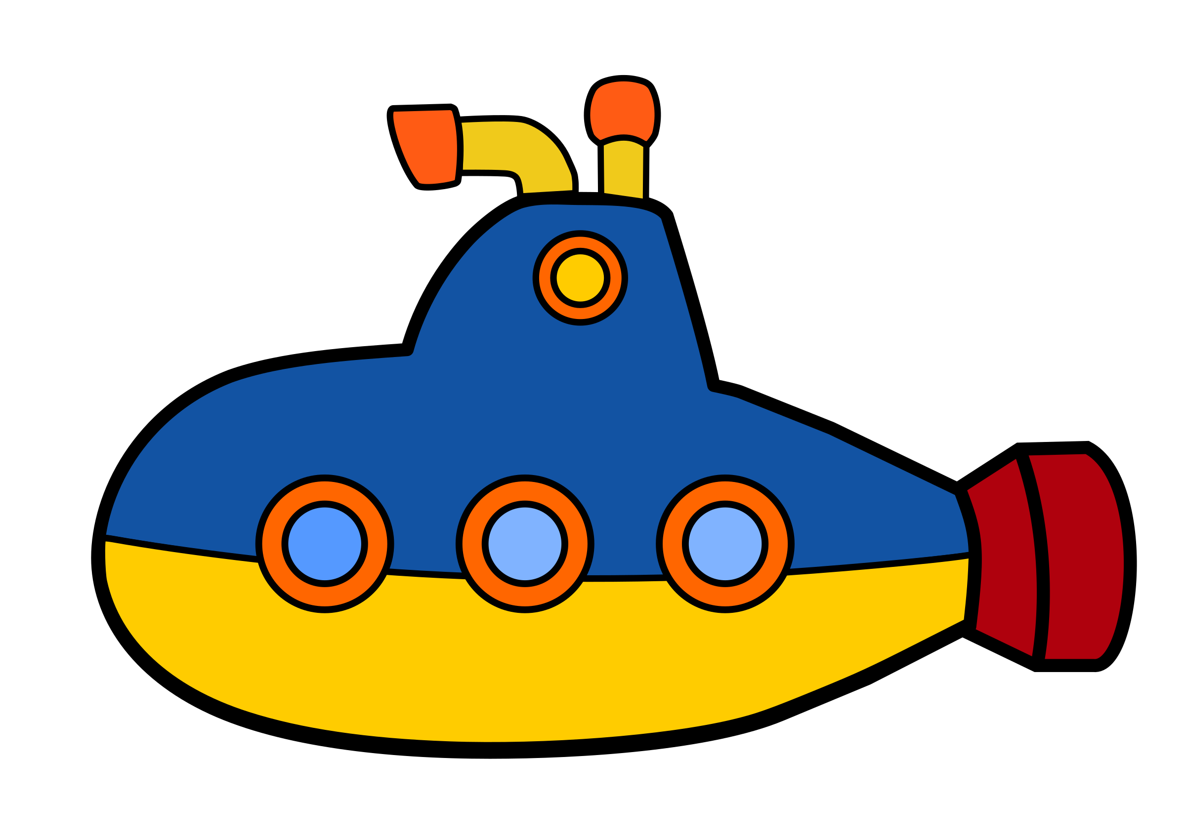 Toy sub 1 by @ejmillan, Blue and yellow submarine designed.