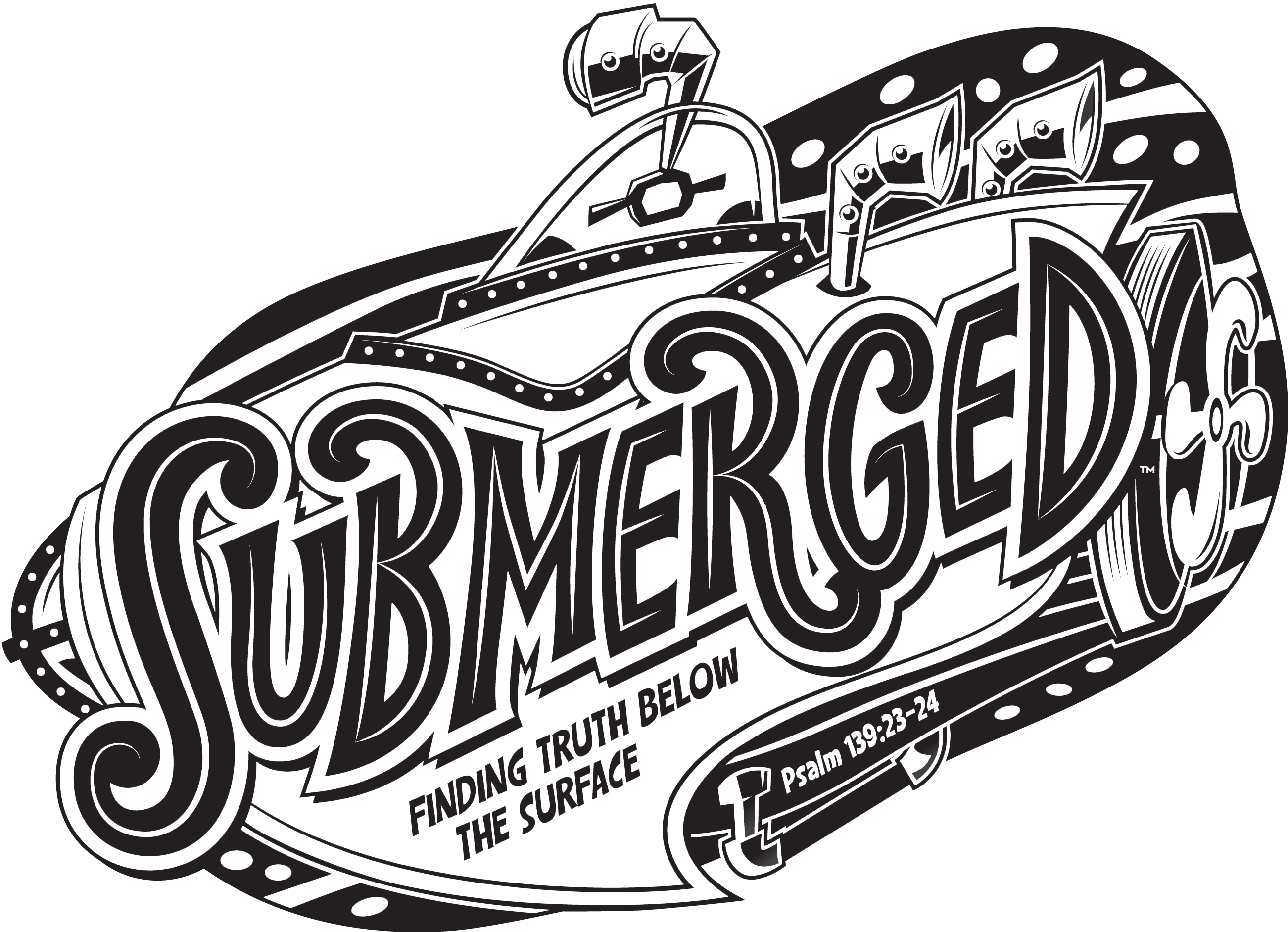 Bible school submerged clipart.