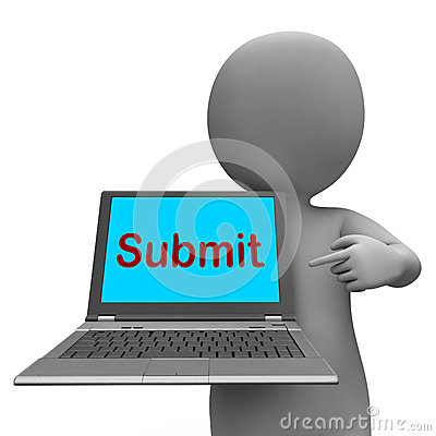 Submit Key Shows Submitting Or Applying On Internet Royalty Free.