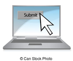 Stock Illustrations of Submit button on keyboard with soft focus.