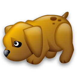 Submissive Puppy Icon, PNG ClipArt Image.