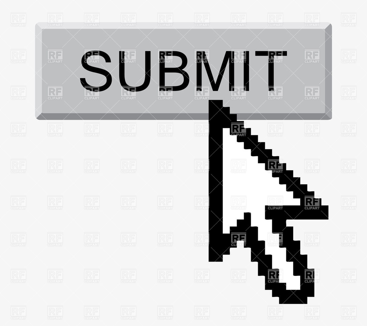 Submit button and arrow cursor Vector Image #33785.