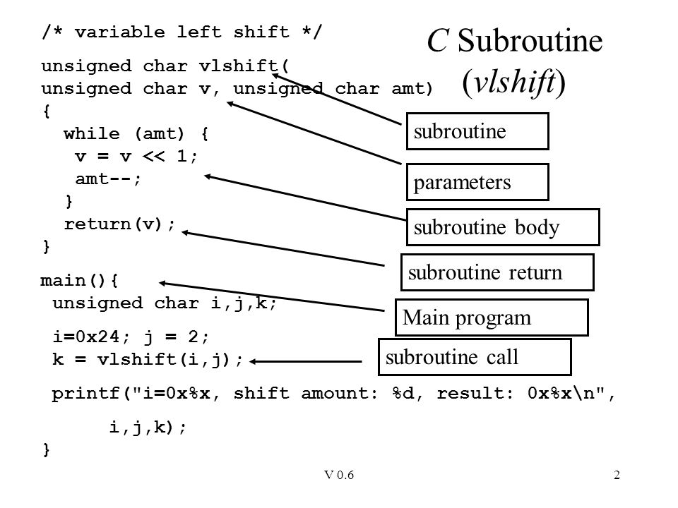 Subroutines A subroutine is a block of code that is called from.