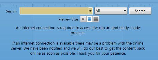 online server down, no clip art?.