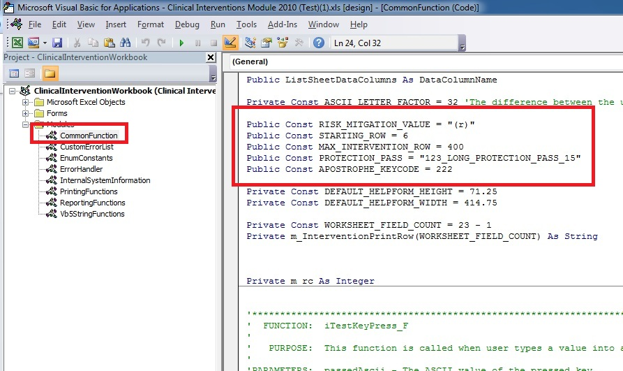 Is it possible to declare a public variable in vba and assign a.