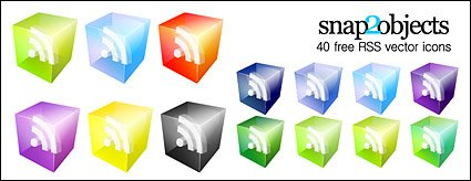 Vector Icons 3D RSS Subscribe to material Clipart Picture.