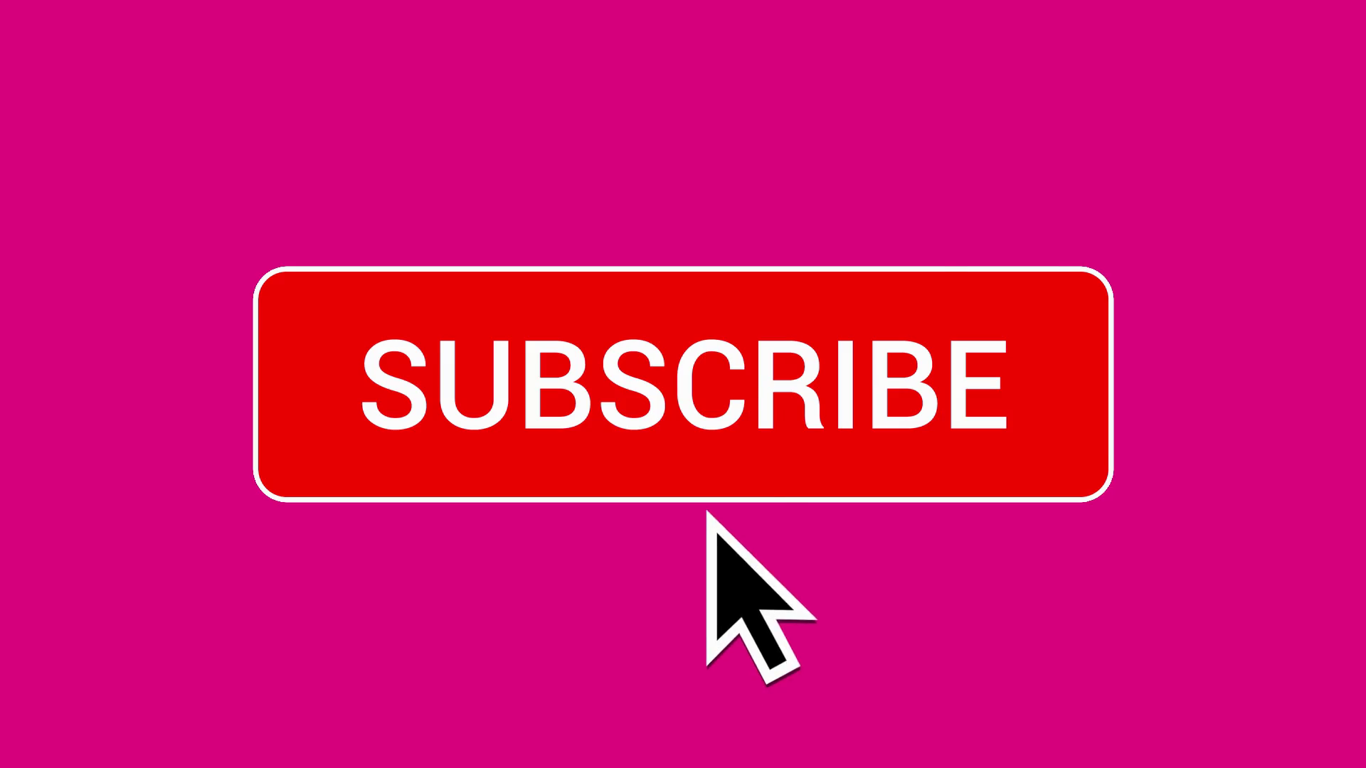 Mouse Clicking a Subscribe Button and Bell Notification with a Dark Pink  Background. Stock Video Footage.