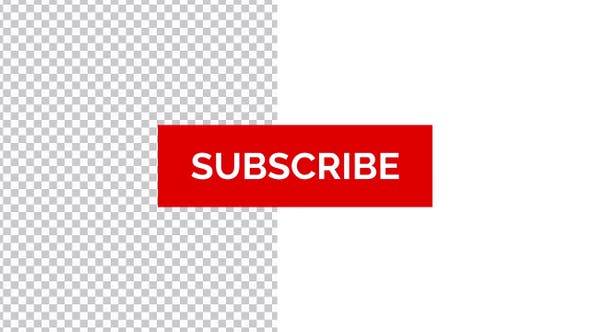 YouTube Subscribe Button with Bell Icon (4k Transparent) by.