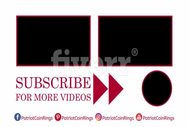 design a youtube outro video end screen.