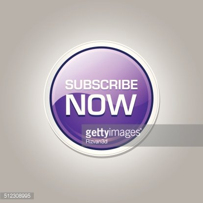 Subscribe Now Glossy Shiny Circular Vector Button Clipart.