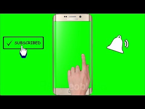 (No Copyright) Green Screen Hand, Mobile, Subscribe, Bell Intro.