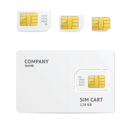 Subscriber Identity Module Clip Art, Vector Images & Illustrations.