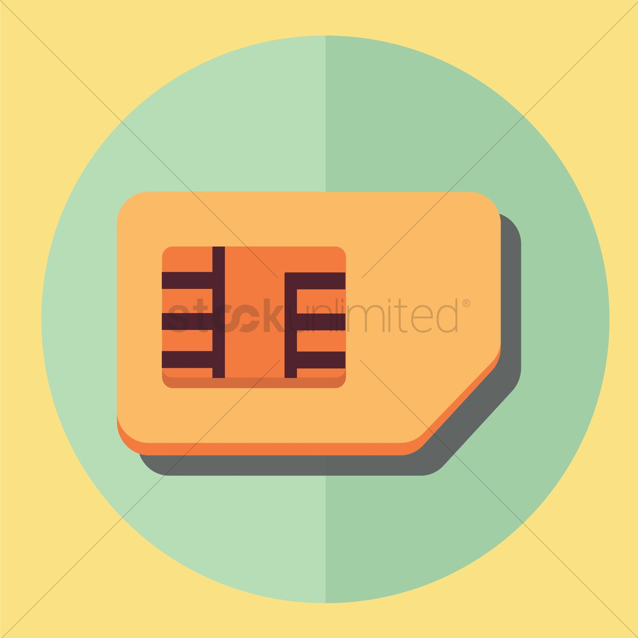 Subscriber identity module card Vector Image.
