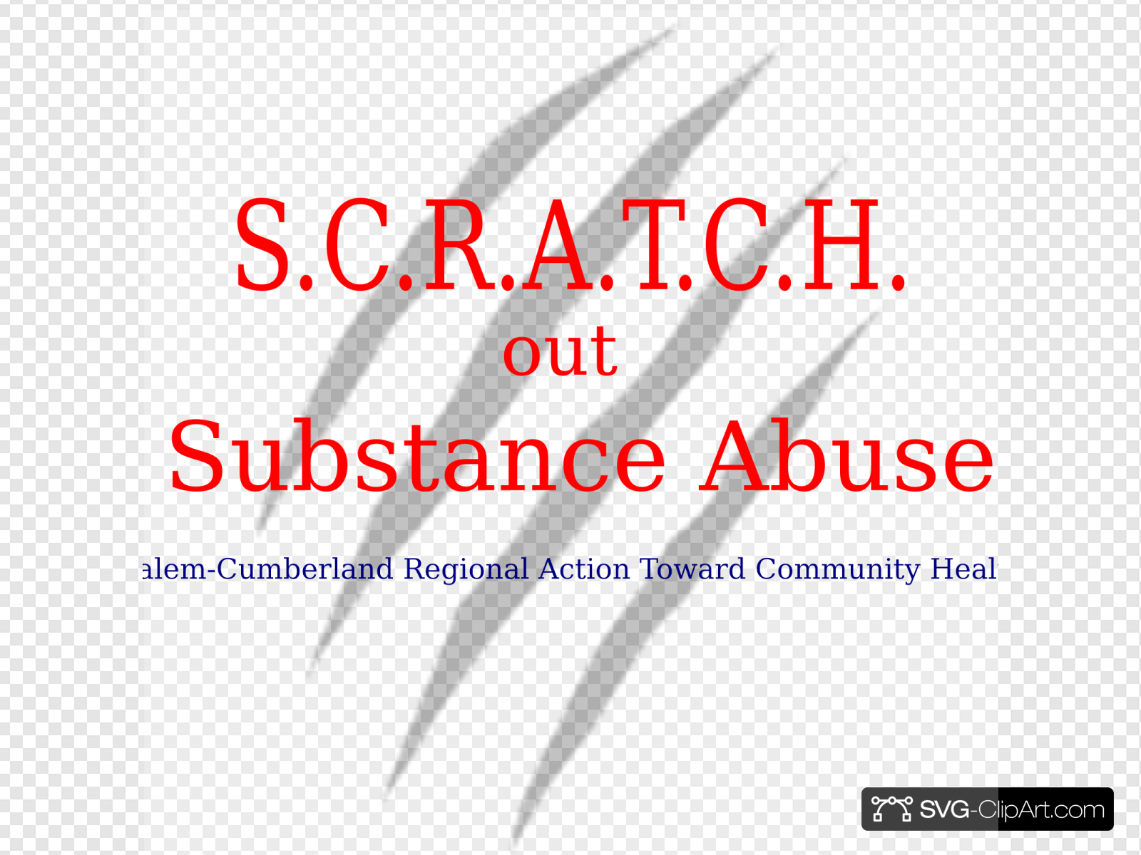 Scratch Out Substance Abuse Logo3 Clip art, Icon and SVG.